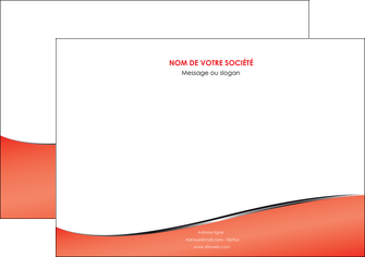 personnaliser modele de flyers rouge rouille colore MIF58723
