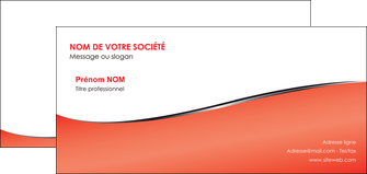 faire modele a imprimer carte de correspondance rouge rouille colore MLIG58727