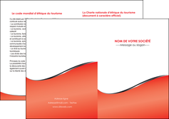 modele depliant 2 volets  4 pages  rouge rouille colore MLIG58729