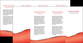 personnaliser modele de depliant 4 volets  8 pages  rouge rouille colore MLIG58737
