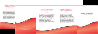 personnaliser modele de depliant 4 volets  8 pages  rouge rouille colore MLIG58739