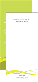 personnaliser maquette flyers espaces verts vert vert pastel fond vert MLGI58741
