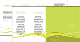 personnaliser modele de depliant 4 volets  8 pages  espaces verts vert vert pastel fond vert MLGI58743