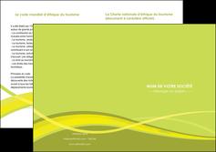modele en ligne depliant 2 volets  4 pages  espaces verts vert vert pastel fond vert MLGI58749