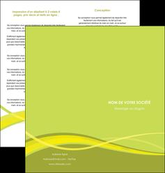 imprimer depliant 2 volets  4 pages  espaces verts vert vert pastel fond vert MIF58759