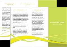 cree depliant 3 volets  6 pages  espaces verts vert vert pastel fond vert MIF58761