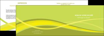 modele depliant 2 volets  4 pages  espaces verts vert vert pastel fond vert MIF58771