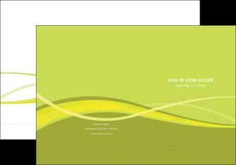 exemple pochette a rabat espaces verts vert vert pastel fond vert MLGI58773