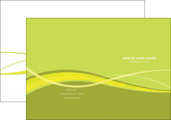 imprimer pochette a rabat espaces verts vert vert pastel fond vert MIF58775