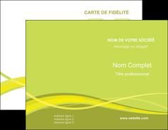 Commander Carte de visite Espaces verts Carte commerciale de fidélité modèle graphique pour devis d'imprimeur Carte de visite Double - Portrait