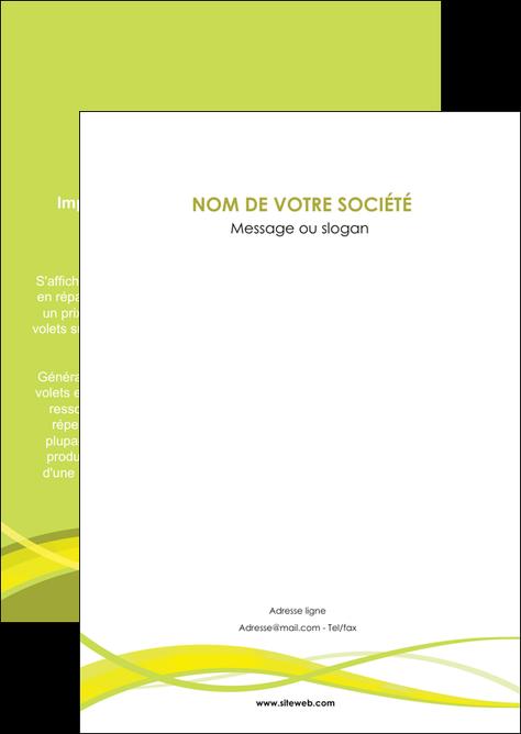 maquette en ligne a personnaliser flyers espaces verts vert vert pastel fond vert MLGI58785