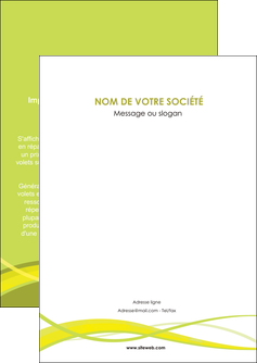 maquette en ligne a personnaliser flyers espaces verts vert vert pastel fond vert MIF58785