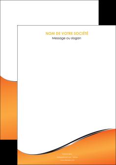realiser affiche orange gris courbes MLIG58857