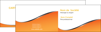 cree carte de visite orange gris courbes MLIG58863