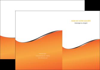 impression pochette a rabat orange gris courbes MLIG58869