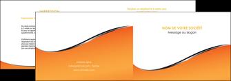 cree depliant 2 volets  4 pages  orange gris courbes MLIG58871