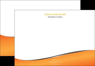 personnaliser modele de affiche orange gris courbes MIF58877