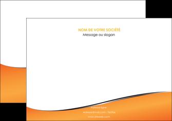 maquette en ligne a personnaliser affiche orange gris courbes MIF58879