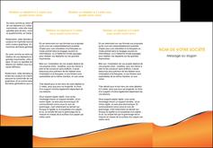 creer modele en ligne depliant 3 volets  6 pages  orange gris courbes MLIG58881