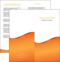 modele depliant 2 volets  4 pages  orange gris courbes MLIG58883