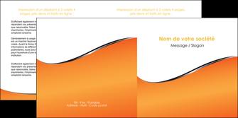 personnaliser maquette depliant 2 volets  4 pages  orange gris courbes MLIG58885