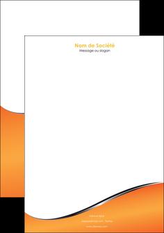 modele en ligne tete de lettre orange gris courbes MIF58887