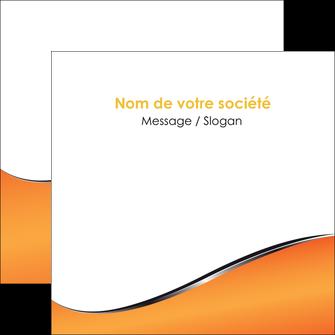 personnaliser maquette flyers orange gris courbes MLIG58889