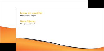 imprimer enveloppe orange gris courbes MIF58893
