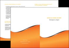 realiser depliant 2 volets  4 pages  orange gris courbes MLIG58895
