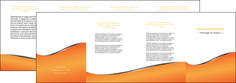 personnaliser modele de depliant 4 volets  8 pages  orange gris courbes MLIG58897