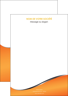 creer modele en ligne affiche orange gris courbes MIF58899