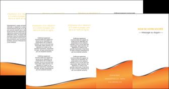 impression depliant 4 volets  8 pages  orange gris courbes MLIG58901