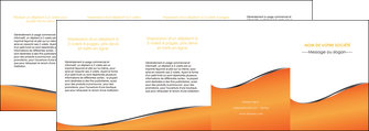 impression depliant 4 volets  8 pages  orange gris courbes MLIG58903