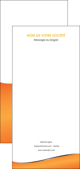 modele flyers orange gris courbes MLIG58905