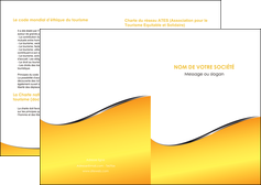 creer modele en ligne depliant 2 volets  4 pages  jaune fond jaune colore MLIG58913