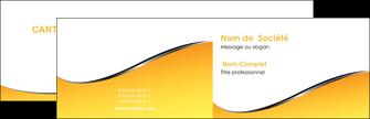 realiser carte de visite jaune fond jaune colore MLGI58915