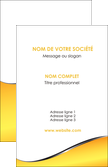 faire modele a imprimer carte de visite jaune fond jaune colore MLIP58917