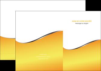creer modele en ligne pochette a rabat jaune fond jaune colore MLIG58921