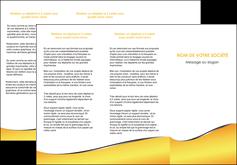 faire modele a imprimer depliant 3 volets  6 pages  jaune fond jaune colore MLIG58933