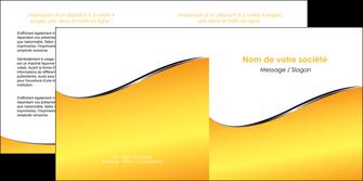 maquette en ligne a personnaliser depliant 2 volets  4 pages  jaune fond jaune colore MLIG58937