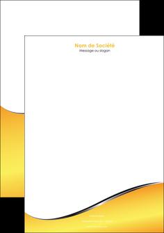 personnaliser modele de tete de lettre jaune fond jaune colore MLGI58939