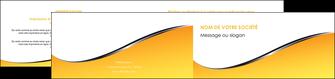 imprimer depliant 2 volets  4 pages  jaune fond jaune colore MLIG58943
