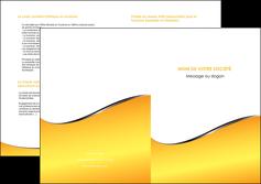 modele en ligne depliant 2 volets  4 pages  jaune fond jaune colore MLIG58947