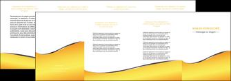 maquette en ligne a personnaliser depliant 4 volets  8 pages  jaune fond jaune colore MLGI58949