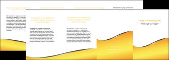 realiser depliant 4 volets  8 pages  jaune fond jaune colore MLIG58955