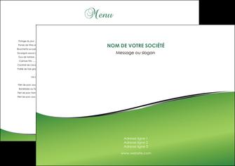 exemple set de table vert fond vert colore MLGI59239