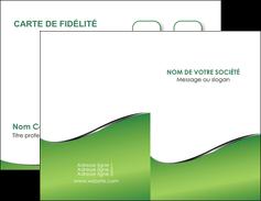 imprimerie carte de visite vert fond vert colore MIF59249
