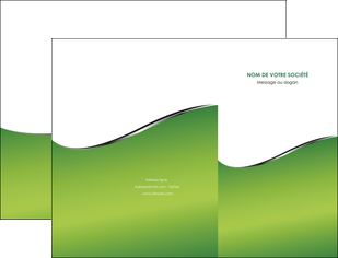impression pochette a rabat vert fond vert colore MLGI59251
