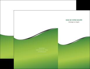 impression pochette a rabat vert fond vert colore MIF59251
