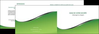 modele en ligne depliant 2 volets  4 pages  vert fond vert colore MIF59255